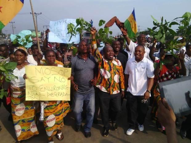 MOSOP UNEP protest