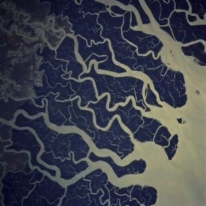 The Ganges Delta. Image:  NASA