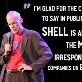 Bill McKibben slams Shell sponsorship at elite climate conference #CHclimate