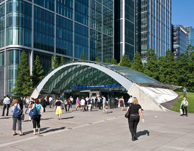Entrance to Canada Water underground station - designed by Norman Foster