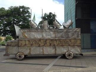 The Battle Bus, Peckham Square