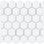 "White Matte Hexagon 2"""