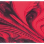 "VERO34 11.6"" x 23.4"" Red Glass Decor"