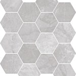 Bardiglio Grey Hexagon Mosaic