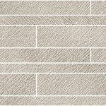 Incisa Taupe Brick Wall Mosaic