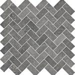 Limestone Black Herringbone Mosaic