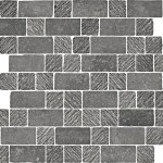 Limestone Black Spaccatella Mosaic