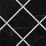 Roma Diamond Incroci Nero Reale Carrara Inserto