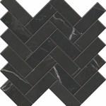 Calacatta Black Herringbone Mosaic