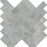 Pearl Grey Herringbone Mosaic