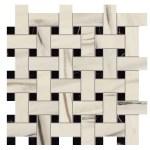 Marvel Bianco Fantastico Mosaico Basket Weave Matt