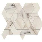 Marvel Bianco Fantastico Mosaico Hex Lappato