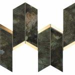 Marvel Brazil Green Mosaico Chevron WALL