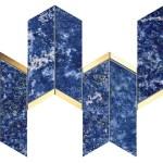 Marvel Ultramarine Mosaico Chevron WALL