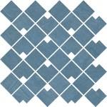 Raw Blue Mosaico Block WALL