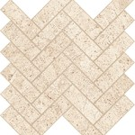 Rise Light Herringbone Mosaic