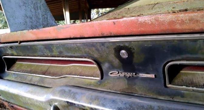 Vintage Dodge Charger found in Barn