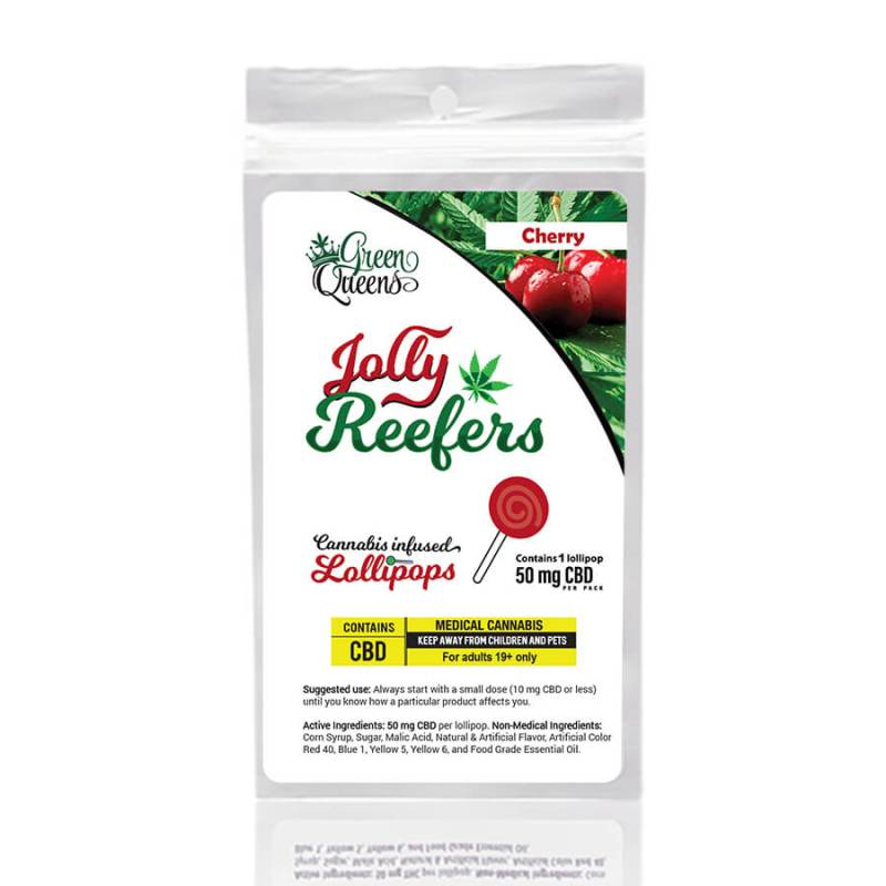 Jolly Reefers Cherry Lollipops CBD (50mg)