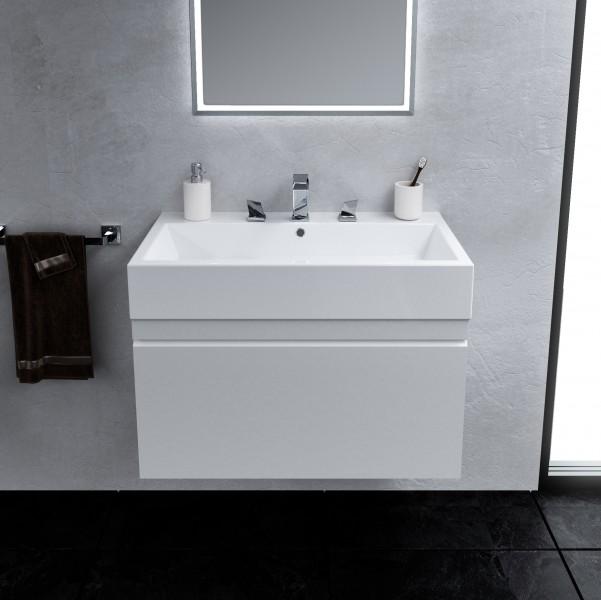Saneux Matteo 1 Drawer White Gloss Soft Close Unit 50 X
