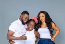 Popular Nigerian Comedian, AY Makun and his wife, Mabel have taken to their respective social media pages to celebrate their daughter, Michelle, who turned a year older today.