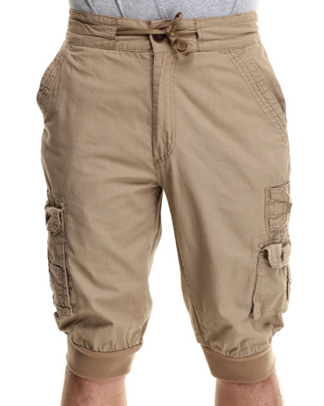 Khaki Jogger Shorts - Platinum South Store