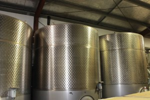 Stainless steel tanks in Sonoma