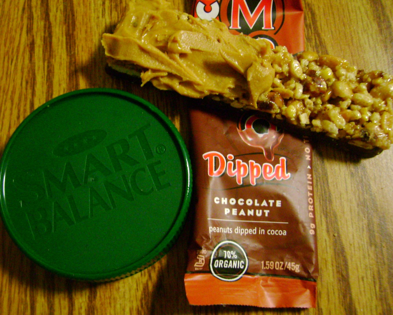 Chocolate Peanut Mojo Dipped With Smart Balance Peanut Butter