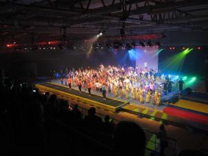 Höganäs Gymnastikförenings Julshow 2014 avslutningsnummer