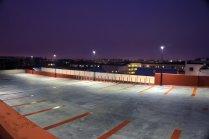 Belysning av parkeringsplats med LED-armaturer från Cariboni.