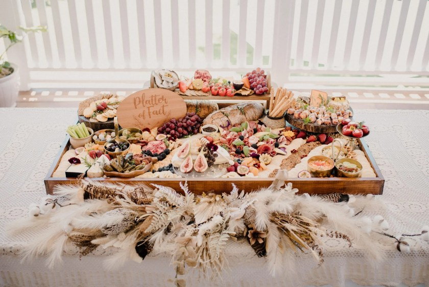 platter and feathers