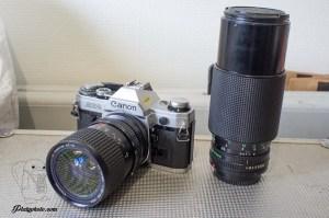 Canon AE-1 + Tokina 35-85mm + 70-210mm