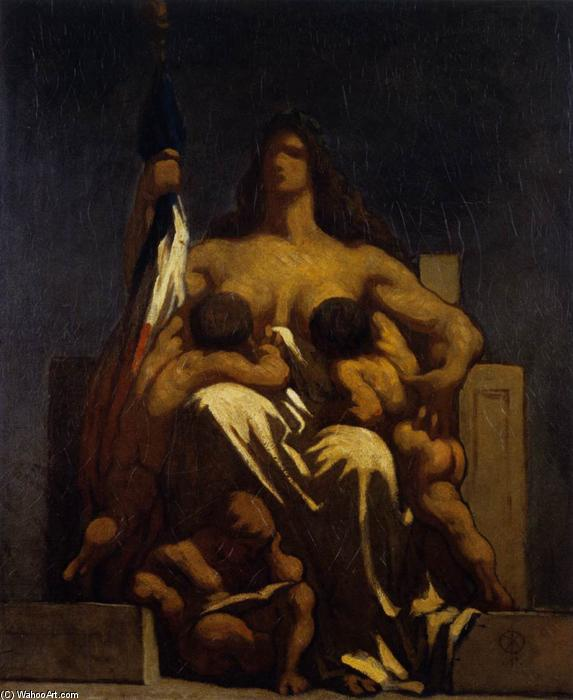 Honoré Daumier's (1808-1879) The Republic, 1848.