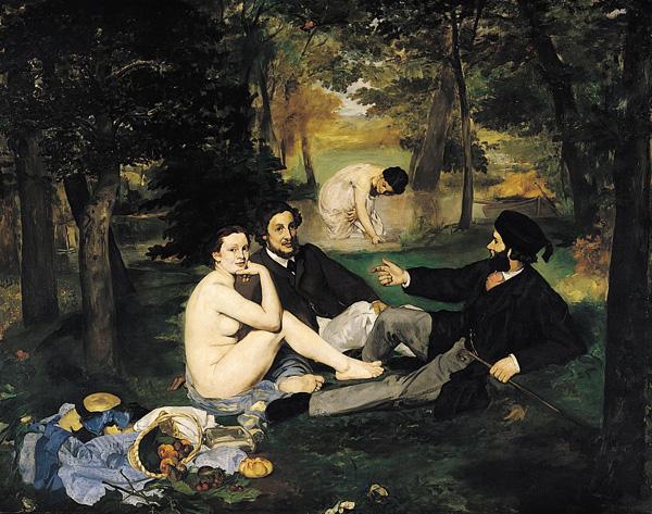 Edouard Manet's Le déjeuner sur l'herbe (The Luncheon on the Grass), 1863.