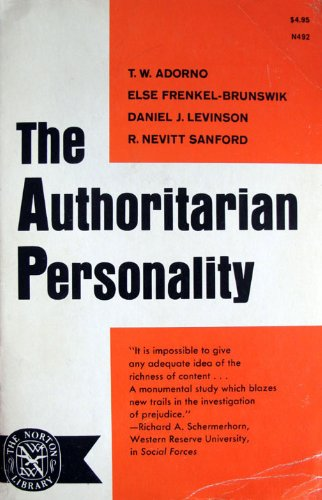 Cover of the Authoritarian Personality (1950).