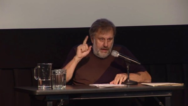Slavoj Zizek speaks at NYU on Nov. 9, 2016 (the day after the election)