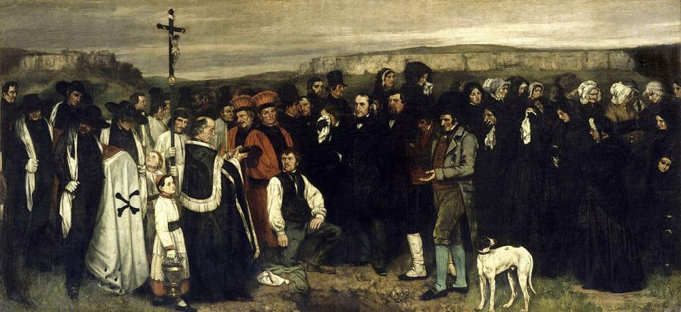Burial at Ornans, Gustave Courbet (1849-50)