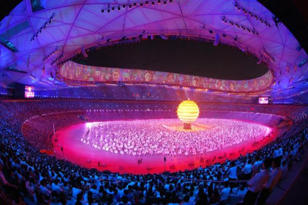 Opening ceremony of the Beijing Olympics, 2008.