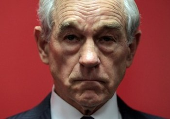 Ron Paul looking serious