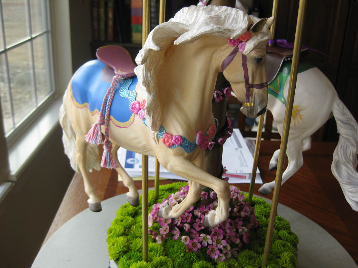 Hand-painted Carousel Wedding Centerpiece By Platypus