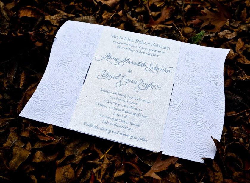 Wedding Invitation Printed On 100 Recycled Cotton Paper Environmentally Friendly Dyed Pearl