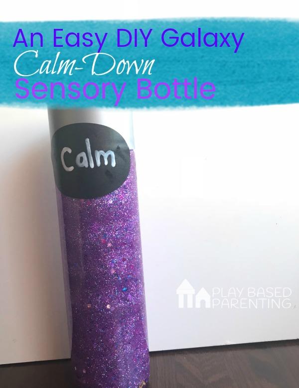 easy DIY Galaxy calm down sensory bottle