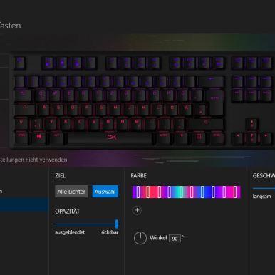 HyperX Tastatur Licht