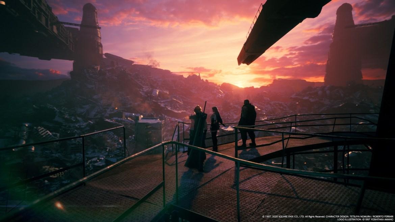 Solch schöne Szenen gibt es in Final Fantasy VII Remake häufiger zu sehen. / FF VII Remake