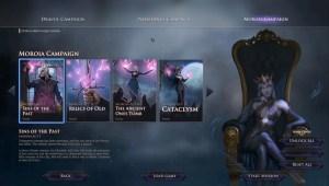 Der Storymodus ist in 3 einzelne Kampagnen eingeteilt. / Immortal Realms