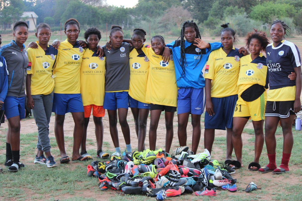 Zambian Girl's Football Team with Boot and Kit Donations