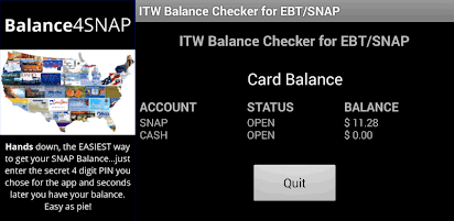 Gift cards make excellent presents that create some fun anticipation about shopping and help you get exactly the items you're looking for. Balance 4 Snap And Ebt Apps On Google Play