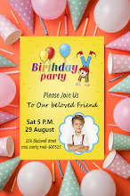 birthday invitation with photo apps