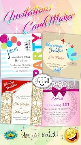 invitation createur carte apk