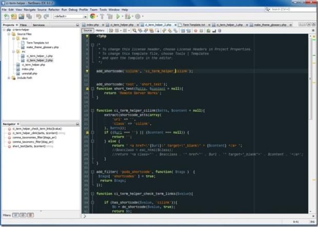programming WordPress with NetBeans