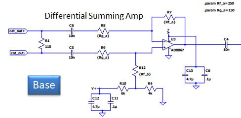 wideband loop base amplifier